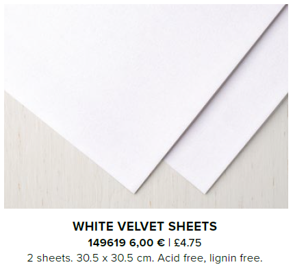 White velvet sheets stampin up