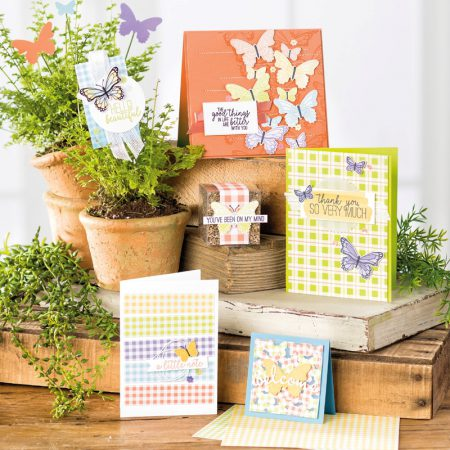 Butterfly gala bundle en butterfly duet punch stampin up pons