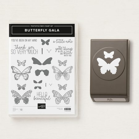 Butterfly Gala bundle en butterfly duet punch stampin up ponsen