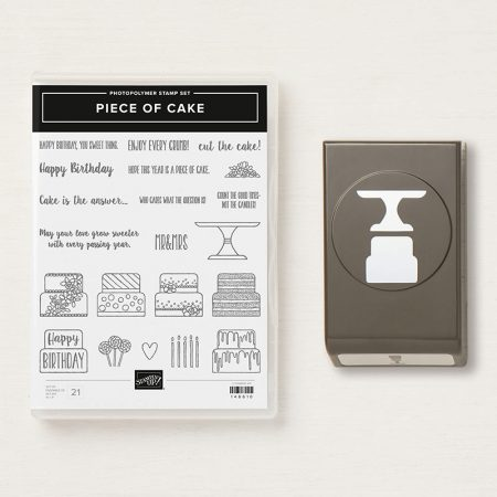 Cake builder punch en piece of cake stampin up