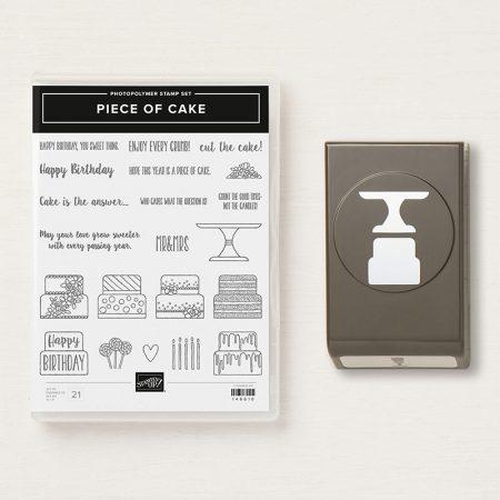 Cake builder punch en piece of cake stampin up