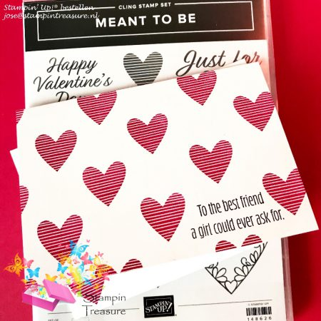 Meant to be stampin up valentijn kaart