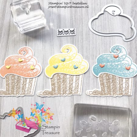 Hello Cupcake stampin up thinlits dies