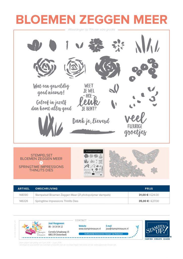 bloemen zeggen meer nederlandse stempel set stampin up