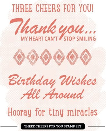 three cheers for you stempelset, stampin up, kit