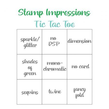 tic tac toe, blog hop uitdaging