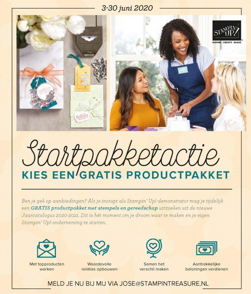 startpakket, stampin up, stampin treasure, actie, nieuwe catalogus, 2020