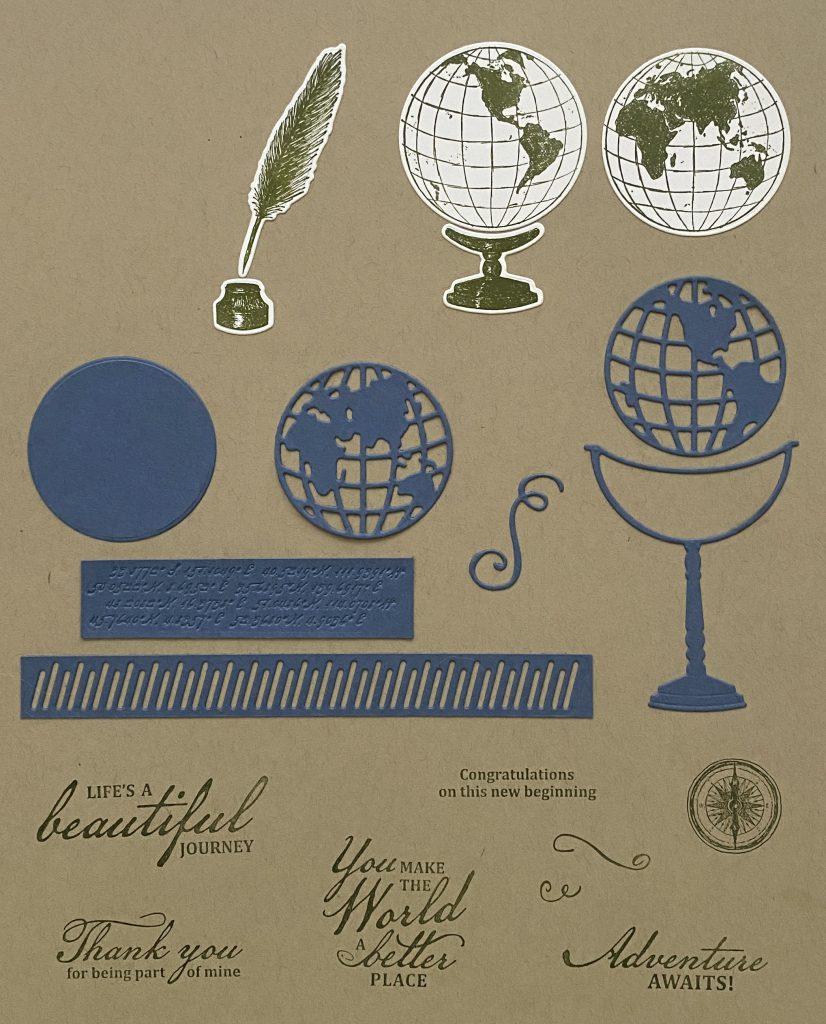 beautiful world, stampin up, stampin treasure, world map