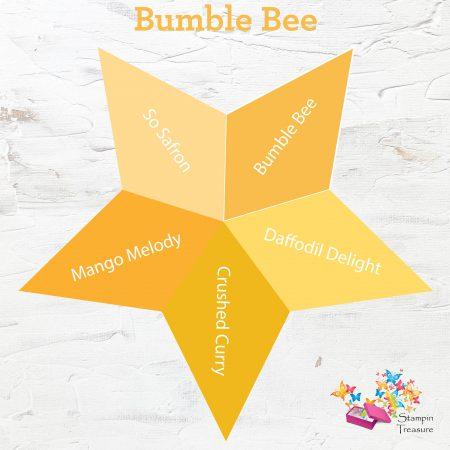bumble bee, in color, 2020-2021, stampin up, vergelijk, compare, stampin treasure