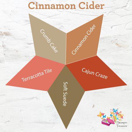 cinnamon cider, in color, 2020-2021, stampin up, vergelijk, compare, stampin treasure