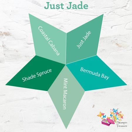 just jade, in color, 2020-2021, stampin up, vergelijk, compare, stampin treasure