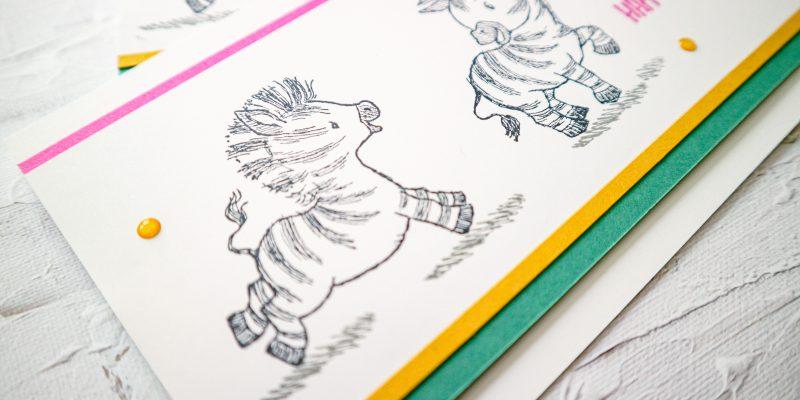zany zebras, stampin up, stampin treasure